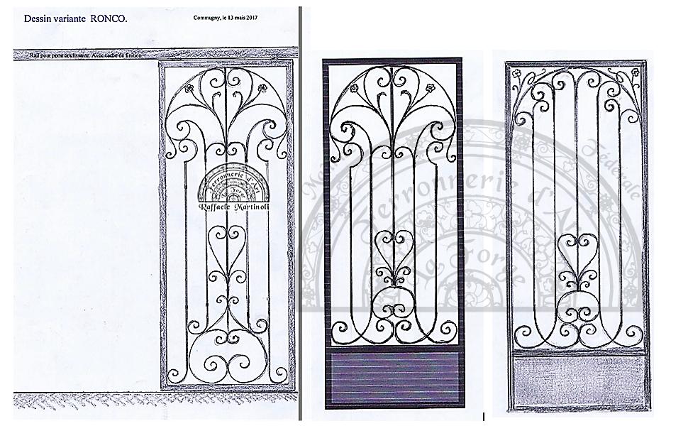 dessin porte coulissante commugny 3 variantes raffaele martinoli ferronnerie d 39 art. Black Bedroom Furniture Sets. Home Design Ideas