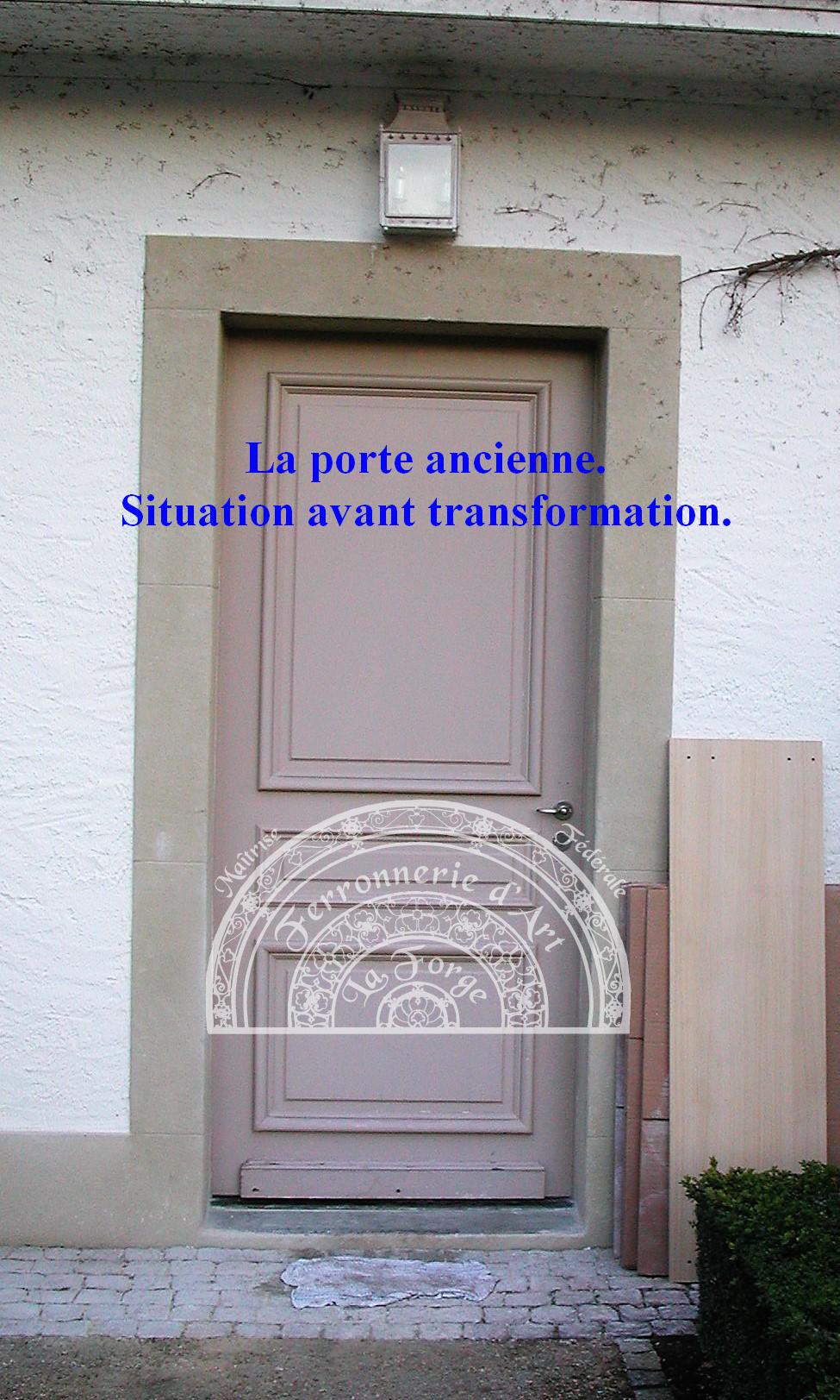 Porte en fer forge exterieur fashion designs - Porte coulissante en fer ...