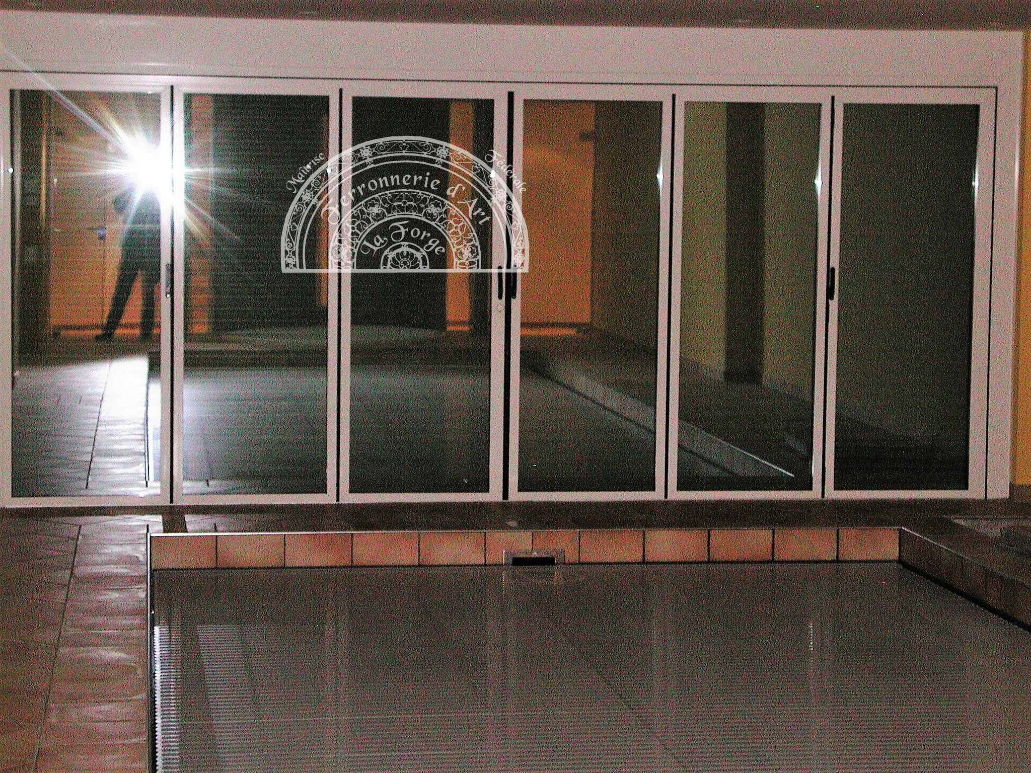 porte accord on en alu triple vitrage verre ant lio 4 raffaele martinoli ferronnerie d. Black Bedroom Furniture Sets. Home Design Ideas